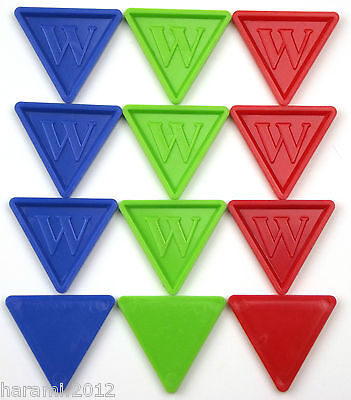 Tokens Brands of Beer Deposit Coins in Triangular Shape -w- Colour and Amount