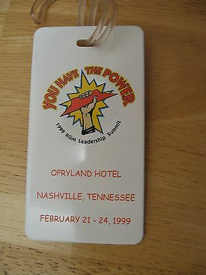 Pizza Hut Luggage Tag, Nashville 1999