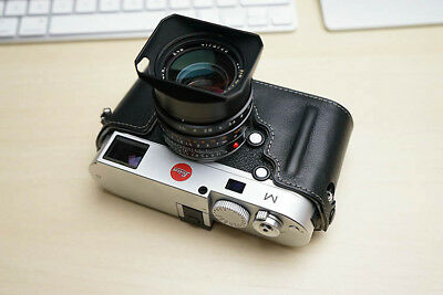 Real Leather Half Camera Case Bag for Leica M M240-P M240 M-P MM MP M262 M246 B