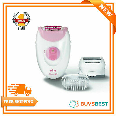 Braun Silk-Epil 3 3270 Women's Epilator Electric Hair Removal With 2 Attachment