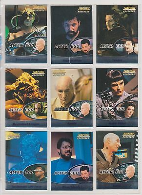 Star Trek Tng Profiles Skybox 2000 Alter Ego Full 9 Card Foil Chase Set Ae1 (C1)