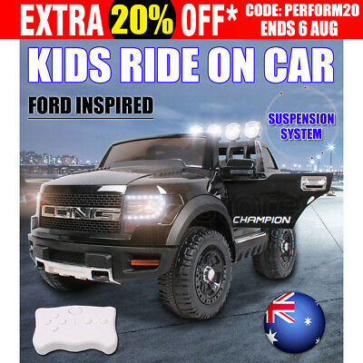 2018 Ford Inspired Electric Kids Ride on Car Suspension Toy Battery Remote 12V