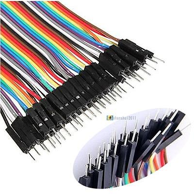 40 pin Rainbow cable dupont wire jump wire Male to Male Raspberry Pi Arduino ❀A1