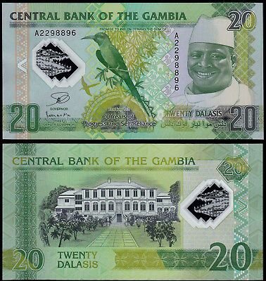 Gambia 20 Dalasis (P30) 2014 (2015) Commemorative Issue Polymer Unc