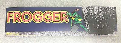 Frogger arcade marquee sticker. 2.5 x 10. (Buy any 3 stickers, GET ONE FREE!)