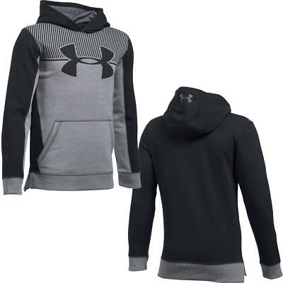 Under Armour Boys Threadborn Blocked Warm Up Running Breathable Hoodie