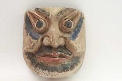 Hand Carved Wood Tribal Old  Mask