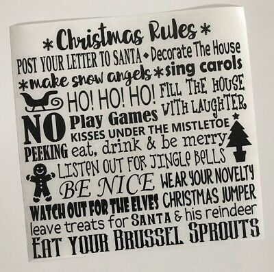 Christmas Let It Snow Decal vinyl sticker Ikea Ribba Box Frame Gift DIY Stencil