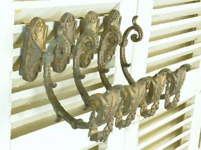 Impressive Set 4 Antique French Empire Style Curtain Tie / Hold Backs, 19th C