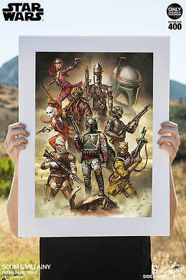 Star Wars: Scum and Villainy Premium art print by Sideshow Unframed, Sold Out!