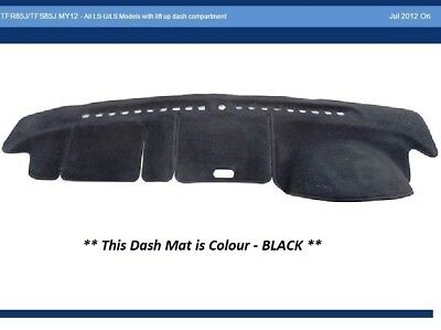 Dash Mat Moulded Black for Isuzu D-MAX LS-U LS Dashmat 07/12-On Lift Up Dash