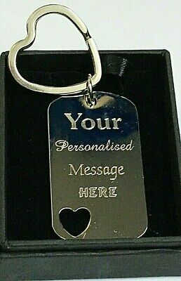 Personalised-Heart-Shape-Keyring-Engraved-Valentines Day-Gift-Birthday-Keychain