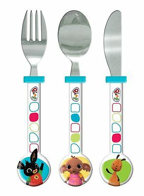 Childrens - Bing 3pc Cutlery Set Knife Fork Spoon