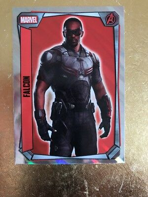 Hero Attax 2017 Marvel Missions-#250 Falcon Holographic Foil Card