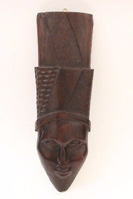 Hand Carved Wood Tribal Wall Mask