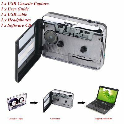 Tape to PC USB Cassette & MP3 CD Converter Capture Digital Audio Music Player BY