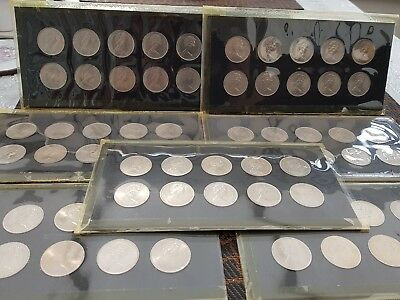 1973 x SLEEVE OF 10 TEN PENCE PIECES  IN UNCIRCULATED CONDITION