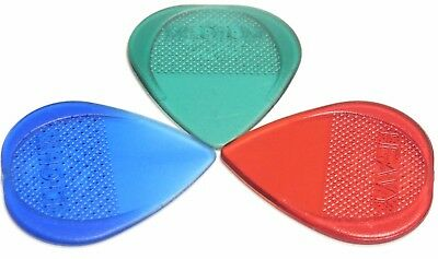 Fred Kelly Poly Flat Pick / Plectrum Set of Three