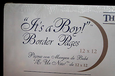 "NIP CREATIVE MEMORIES ""It's A Boy"" Border Pages 12 x 12 Refill 5 Sheets 10 Pages"