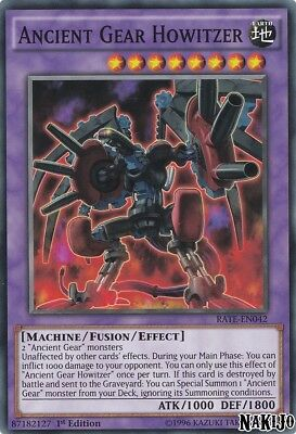 Yugioh - 3x Ancient Gear Howitzer RATE-EN042 Common - 1st Ed - NM/M