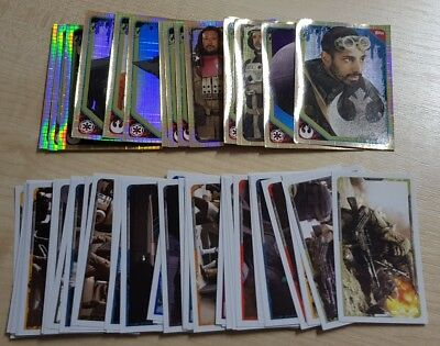 Topps Star Wars Rogue One Stickers - 63 stickers including 15 shiny