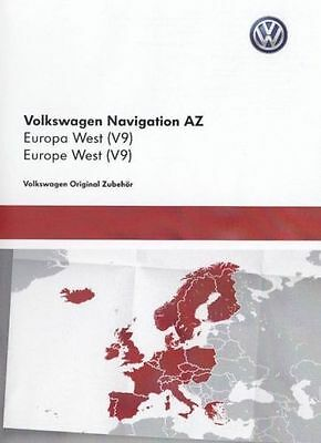 Latest Vw+Skoda+Seat Rns 315 Amundsen V9 Sd Card Uk+ Europe Map Update 2017/2018