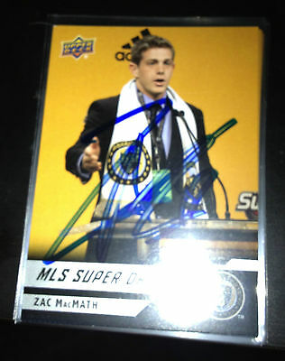 Philadelphia Union Zac MacMath Autographed 2011 Upper Deck UD MLS Card
