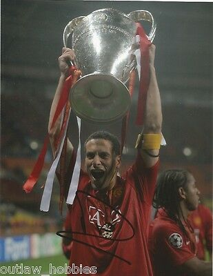 Manchester United Rio Ferdinand Autographed Signed 8x10 Photo COA C