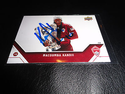 Colorado Rapids Macoumba Kandji Autographed Signed 2011 UD MLS Card
