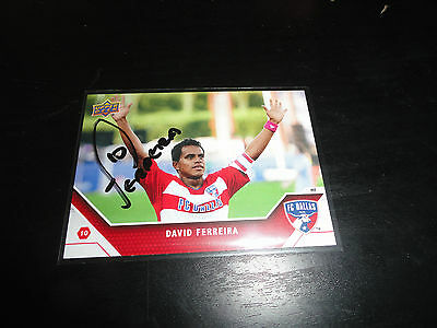 Dallas FC David Ferreira  Autographed 2011 Upper Deck MLS Card