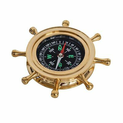 Kompass Steuerrad Maritim Dekoration Navigation Messing Antik-Stil