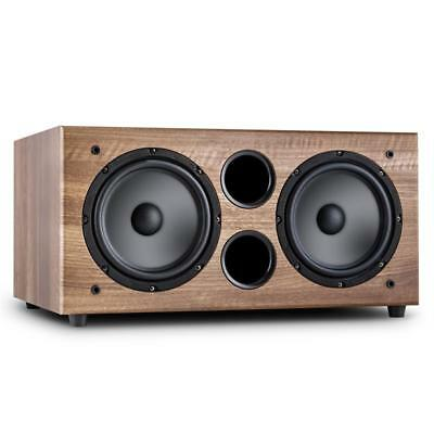 """250 W RMS ACTIVE 2 x 8"""" WOOFERS HI-FI ACTIVE SUBWOOFER HOME CINEMA AUDIO MUSIC"""