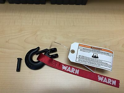 """Warn winch hook 5/16"""" forged steel Black with nylon strap"""