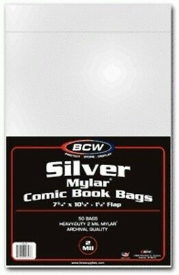 BCW Mylar® Silver Comic Book Bags (50 ct.) 2-Mil
