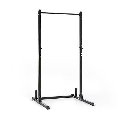 5x5 cm Steel Half Rack Gym Weight Lifting Bench Bar Fitness Home Indoor Black