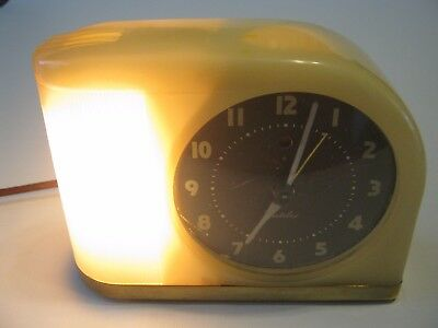 Vintage Bakelite Art Deco 1940s Westclox Moonbeam Electric Alarm Clock