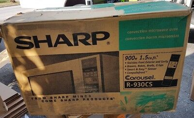 Sharp Carousel Countertop Convection + Microwave Oven 1.5 cu. ft. 900W Stainless