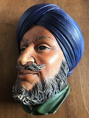 A Vintage Bossons Wall Plaque - 1960's  Sikh