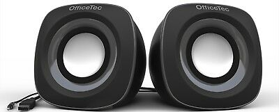 OfficeTec USB 2.0 Multimedia Compact Computer Speakers System for Mac and PC