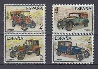 SPAIN - 1977 - MNH - OLD CARS EDIFIL 2409/12 Sc# 2037/40 COMPLETE SET