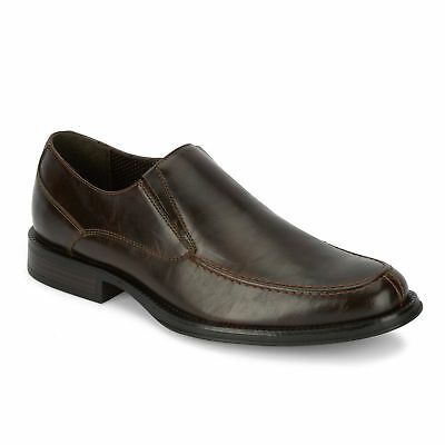 Dockers Men's Ramsdell Slip-on Moc Toe Rubber Sole Oxford Shoe Brown