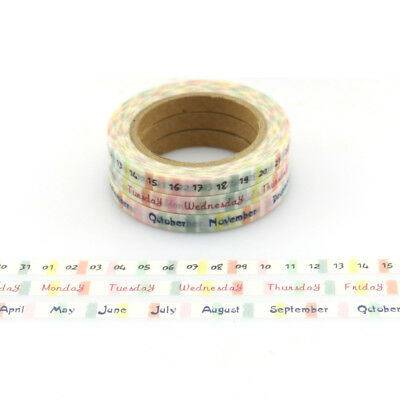 Set Of 3 Skinny Planner Themed Washi Masking Tapes 5mm x 10 Metre Rolls Of Tape