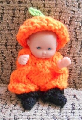 """Doll Clothes Thanksgiving / fall outfit for Berenguer baby  5"""""""