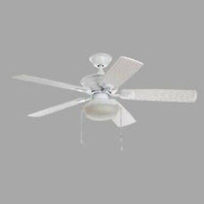 Home decorators collection marshlands led 52 in indoor outdoor white ceiling fan