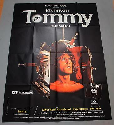 "THE WHO ""Tommy"" - mega rare original French BILLBOARD movie poster"