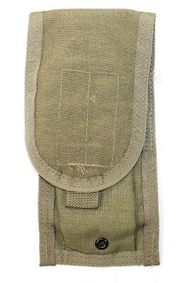 Eagle Allied Industries MBSS MOLLE Double 5.56 Mag Pouch Khaki Tan 1x2 RRV MLCS
