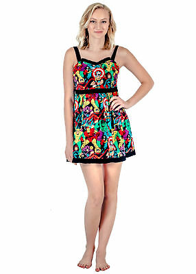Adult Women's Marvel Super Heroes All Over Sweetheart Dress