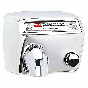 DAYTON Hand Dryer,Fixed,Stainless Steel, 8DWJ5, Stainless Steel