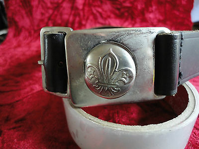 """Vintage, Boy Scouts, Belt And Buckle. 32"""" WAIST"""