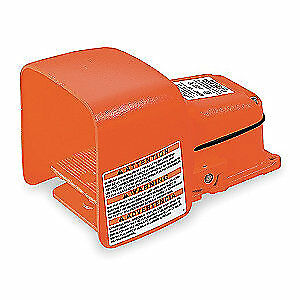 LINEMASTER Cast Iron Heavy Duty Foot Switch,Momentary Action, 531-SWHOX, Orange